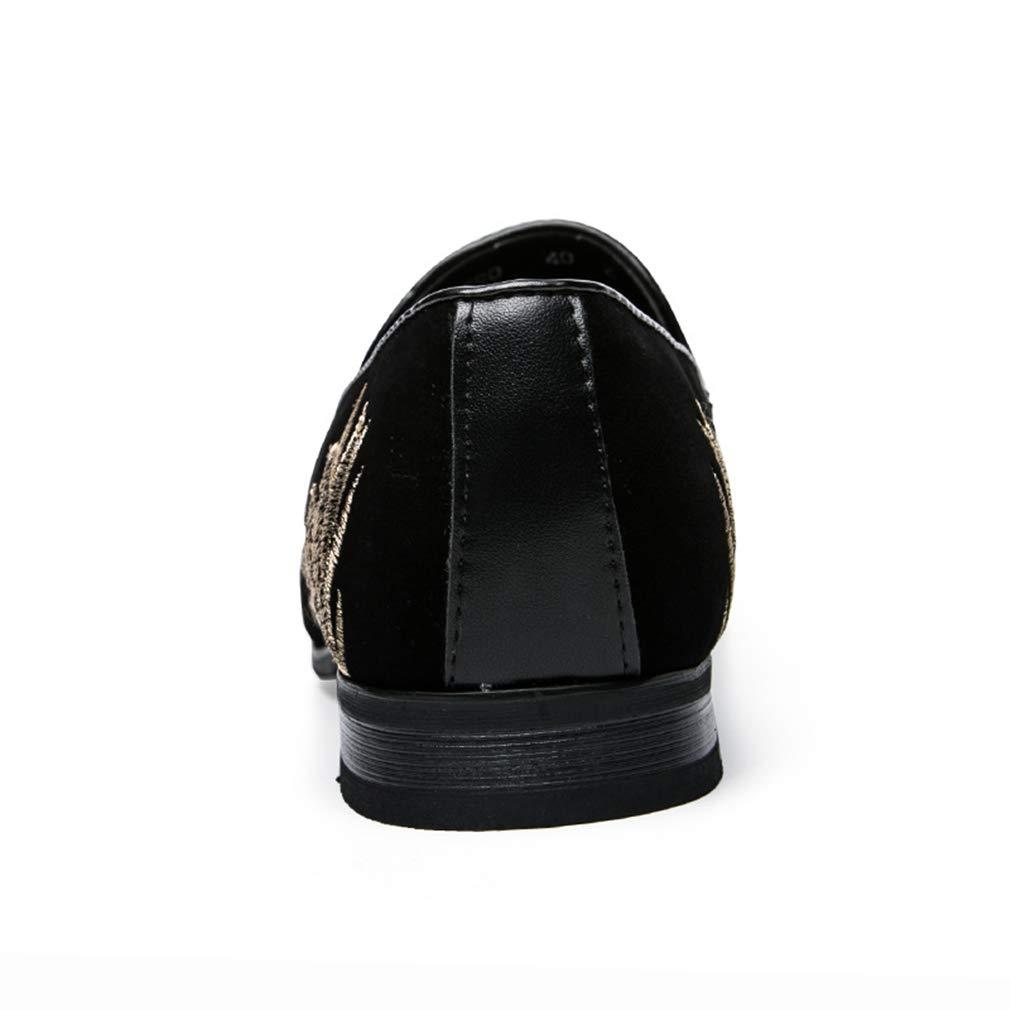 55b4b44b6 ... YAN Zapatos Formales para para para Hombres Zapatos de Vestir de  Microfibra Zapatos Casuales sin Mangas ...