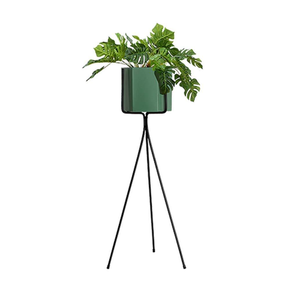 Cremagliere del Fiore Multifunzionale Stand di Fiori, Nordico Stand A Pianta Triangolare per Ufficio JINRONG (colore   verde Scuro, Dimensioni   75  16  15.5CM)