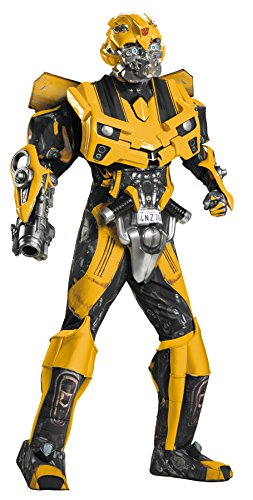 Disguise Men's Hasbro Transformers Age Of Extinction Movie Bumblebee Theatrical with Vacuform Plus 3D Costume, Black/yellow, X-Large/42-46 for $<!--$282.41-->