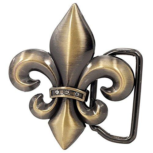 Buckle Rage Adult Unisex Fleur de Lis French Symbol Cutout Belt Buckle (Fleur De Lis Buckle)