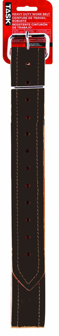 Task Tools T77375 Heavy-Duty Leather Work Belt which Fits Waists from 32-Inch  to 47-Inch