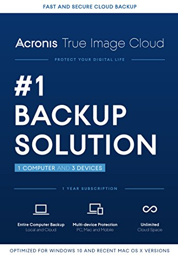 Acronis True Image Cloud - 1 Computer, 3 Device [Old Version]
