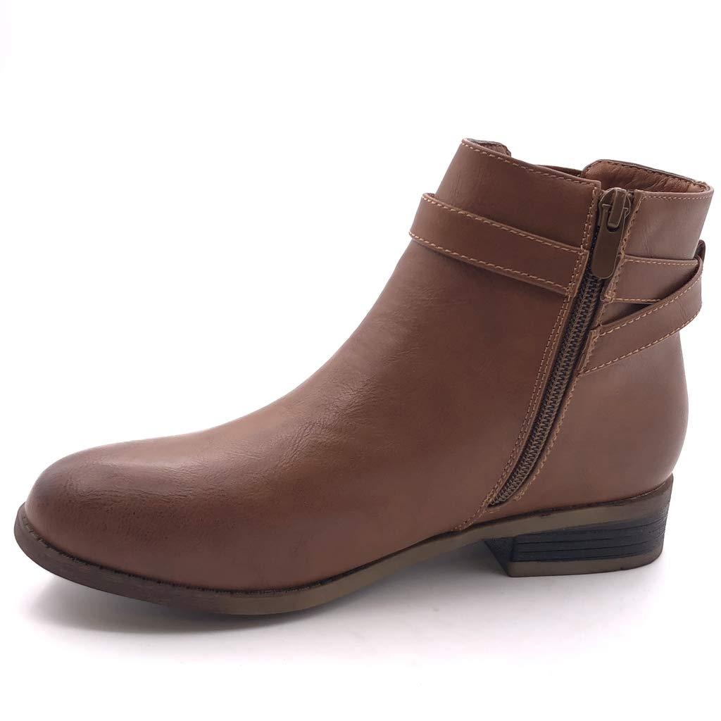 45ef441be6e ... Angkorly - Chaussure Mode Bottine Chelsea Chelsea Chelsea Boots Motard  Femme Boucle lanières croisées élastique Talon ...