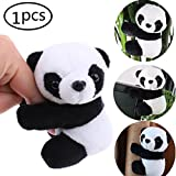 CosCosX 1 Pcs Finger Panda, Cute Panda Plush Toy Panda Clip Relaxation Toys Finger Toy Kids Toy Home Decoration