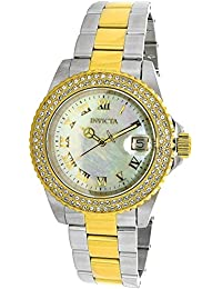 Invicta Women's Sea Base Gold-Tone Steel Bracelet & Case Swiss Quartz MOP Dial Analog Watch 20366