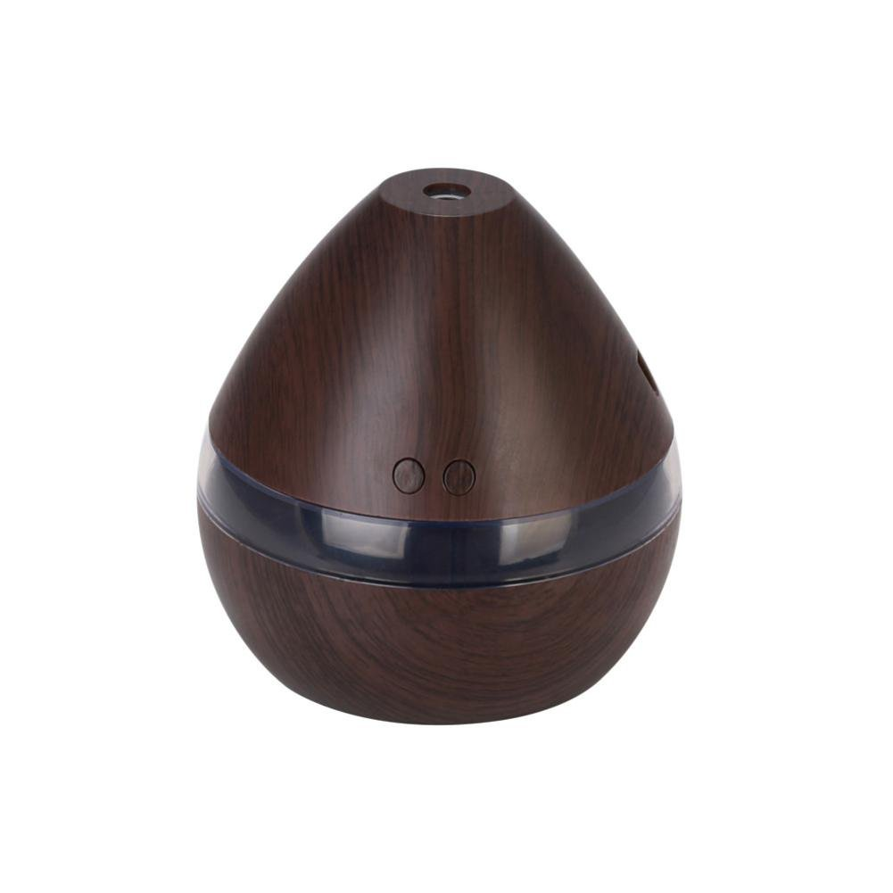 Aromatherapy Essential Oil Diffuser - Saihui Portable Mini Atomizing Humidifier Wood Grain Humidifiers Ultrasonic Diffusers with 7 Color LED Lights for Home Office Baby Room (Yellow)