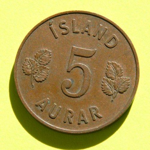 ICELAND 5 AURAR coin 1946 #1