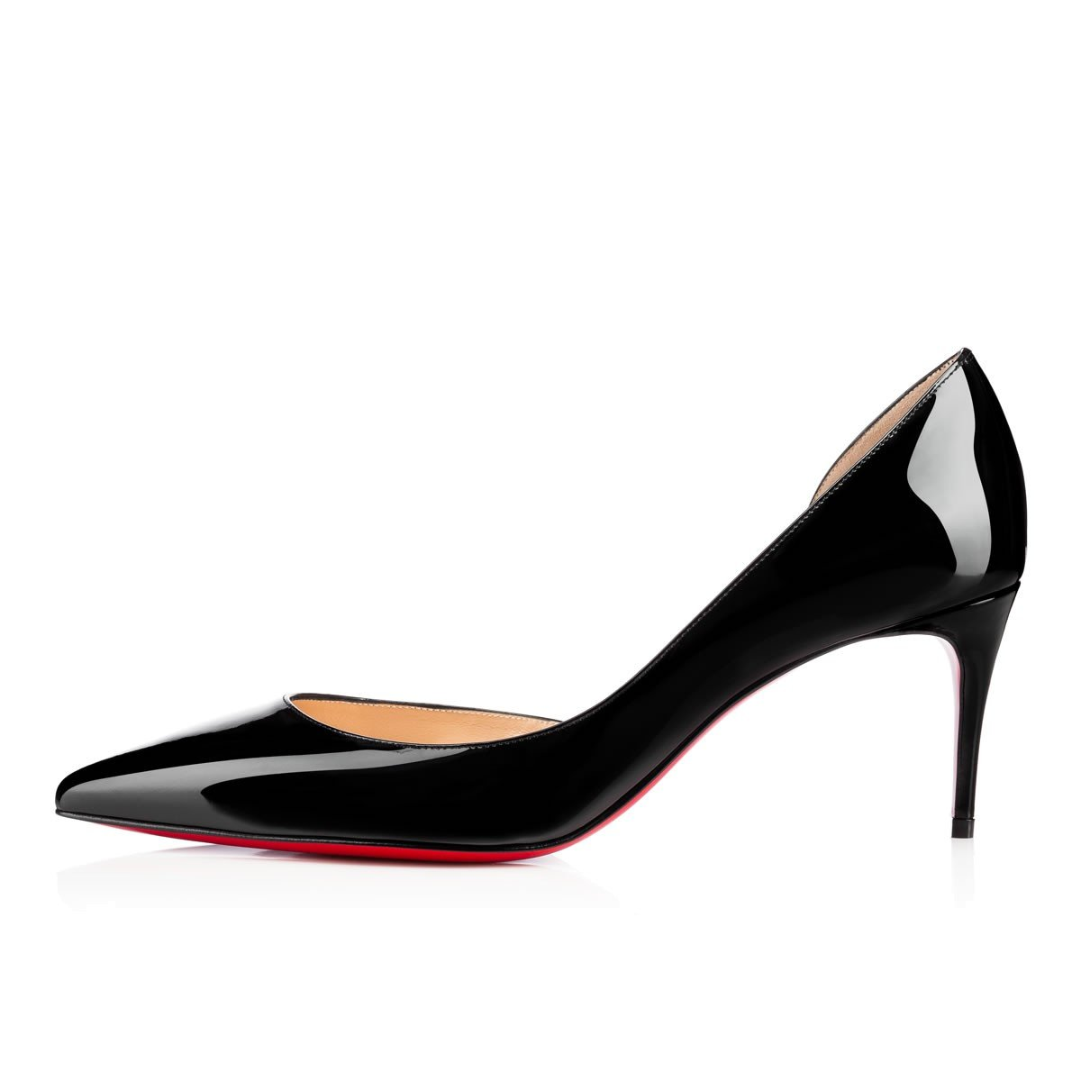 Chris-T Women Fashion D'Orsay Peep Toe with High Heel Stiletto Dress Party Pumps Size 5-15 US B07FMHKH1D 7.5 B(M) US|Pblack/Red S0le(bottom)