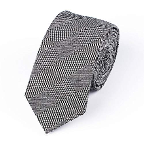 YUNHAO Tie Men's Casual Literary Korean Style College Business Suit Dress Arrow-Shaped Tie 6.5cm Cotton Fine Plaid Tie Narrow 145cm (Color : 1, Size : Tie 6.5145cm)