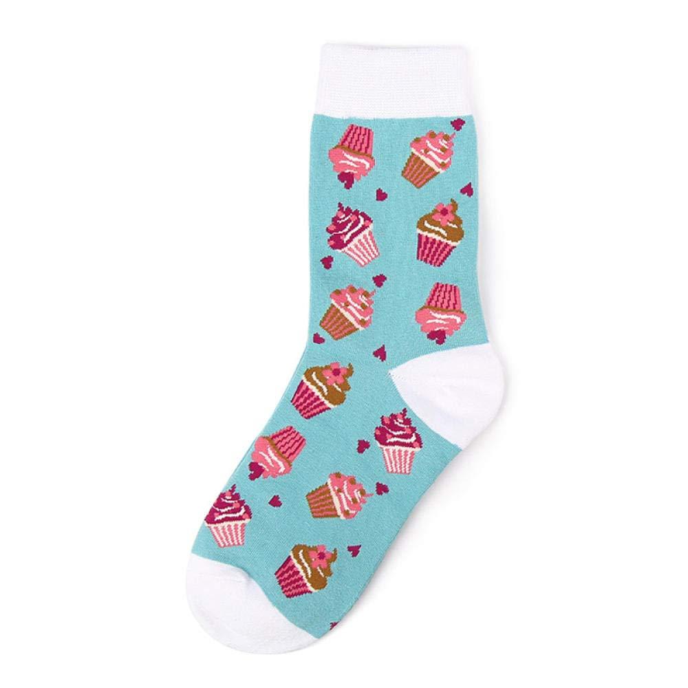 Tube Sock 12 Pair New Cartoon Embroidery Kawaii Couple Socks Women Harajuku Warm Cute Socks Cotton Ankle Funny Socks Gifts For Women Style B by TIGERROSA