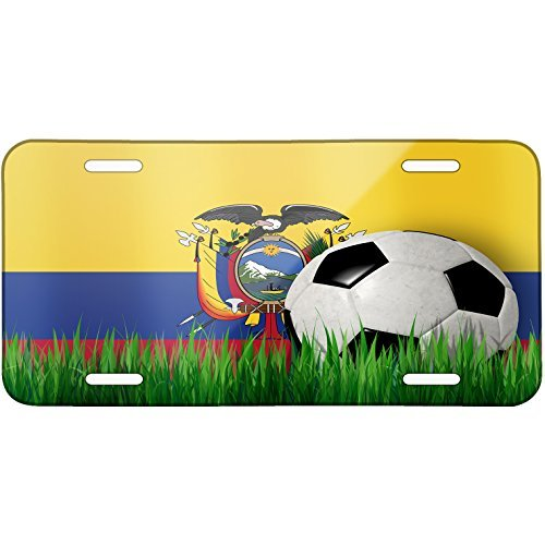 (Soccer Team Flag Ecuador Metal License Plate 6X12 Inch)