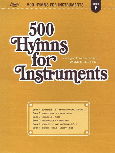 Melody Bingo - 500 Hymns for Instruments: Book F - Chords, Drums, Melody, Bass