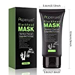 Auperwel Blackhead Remover Mask, Strong Black Mask Purifying Peel off Activated Charcoal Deep Cleaning Facial Mud Mask 2.11 ounce