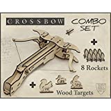 Christmas Gift DIY Crossbow Kit With 8 Rockets And Targets. Gift For men, Do It Yourself Gift For Him.