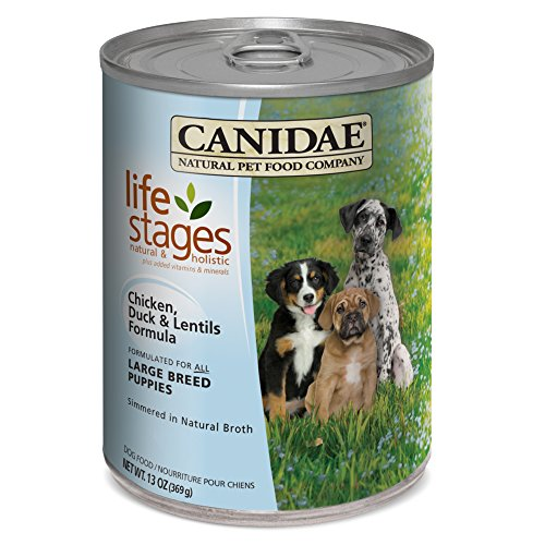Canidae All Life Stages Large Breed Puppy Dog Wet Food Made With Chicken, Duck & Lentils, 13 Oz (12-Pack)