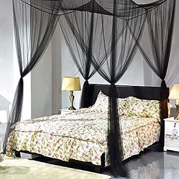 Goplus 4 Corner Post Bed Canopy Mosquito Net Full Queen King Size Netting Bedding & Amazon.com: Goplus 4 Corner Post Bed Canopy Mosquito Net Full Queen ...