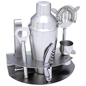 Wyndham House 7pc Stainless Steel Bar Set Cocktail Shaker Strainer Bottle Opener Corkscrew
