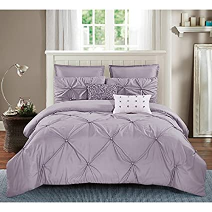 Amazon.com: PH 7 Piece King Lavender Purple Comforter Set ...