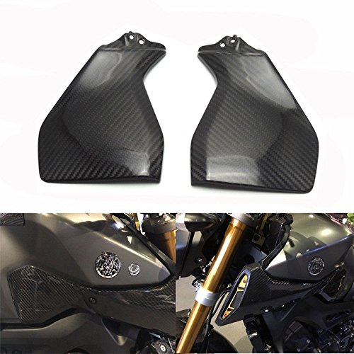 Cover Tank Fiber Works Carbon - FidgetGear Carbon Fiber Gas Tank Side Cover Trim Fairing for Yamaha MT FZ 09 2014-2017
