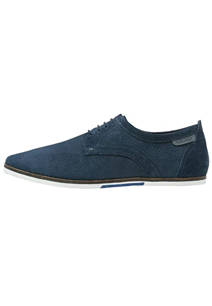 Pier One Sporty Lace up Derby Shoes in Dark Blue, Size 40