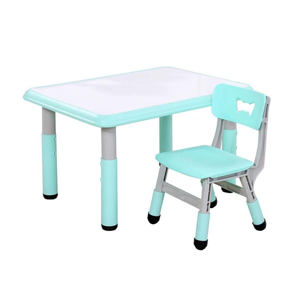 en stock blanco+azul 6060cm table+1 chair chair chair XUERUI Mesas Juego De Sillas De Mesa, Muebles para Niños Pequeños, Mesa De Actividades De Altura Ajustada Jugando Estudiando Dormitorio Sala De Juegos Jardín De Infantes Muebles  en venta en línea