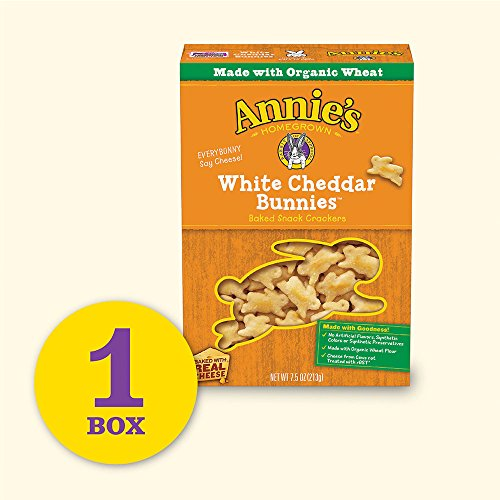 Annie's Organic White Cheddar Bunnies Baked Snack Crackers, 7.5 oz