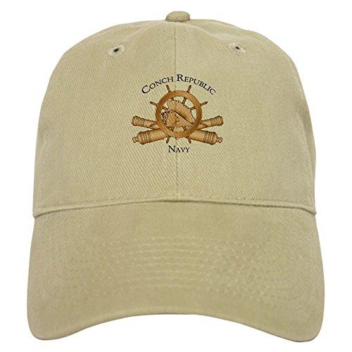 CafePress - Official Conch Republic Navy Baseball - Baseball Cap with Adjustable Closure, Unique Printed Baseball ()