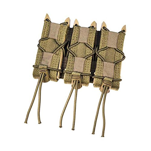 (HSG Triple Pistol TACO Molle holds 3 pistol mags or other tools Pouch Olive)