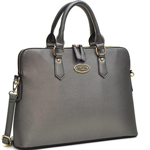 Dasein Women's Faux Leather Purses and Handbags Shoulder Bags Satchel Top Handle Bags Work Bag (8903- Petwer)