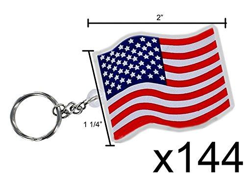 USA Flag Key Chains 144