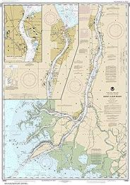 "Noaa Chart 14852 St. Clair River;Head of St. Clair River: 43.99"" X 30.9"" P"