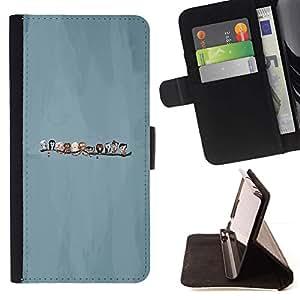 Momo Phone Case / Flip Funda de Cuero Case Cover - Pájaros lindos - Sony Xperia Style T3