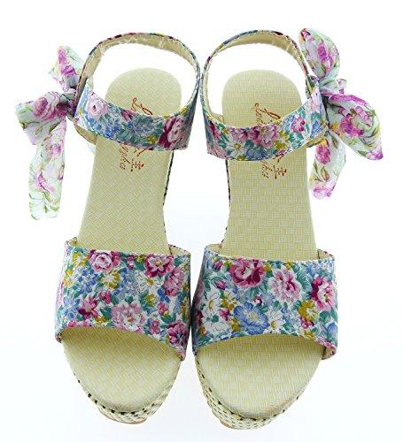 Sandales Élégant Compensé Convient D'été Avec Printemps Confortable Roses Fille Sexy Clair Coin Femme Chaussures Saison Haut été Adultes Talon Bleu IdqPI