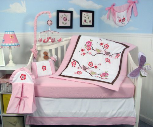 Love Bird Baby 14 Piece Crib Nursery Bedding Set