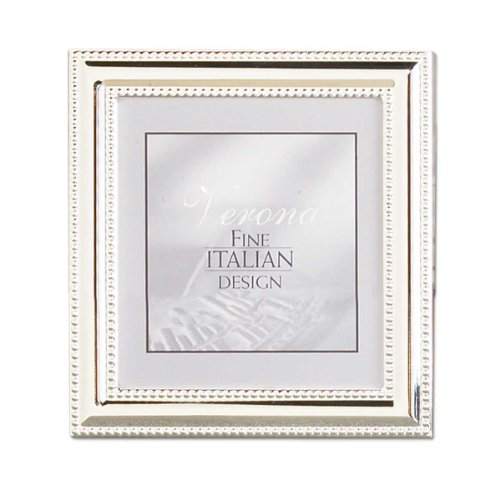 Lawrence Frames Metal Picture Frame Silver-Plate with Delicate Beading, 5 by 5-Inch ()