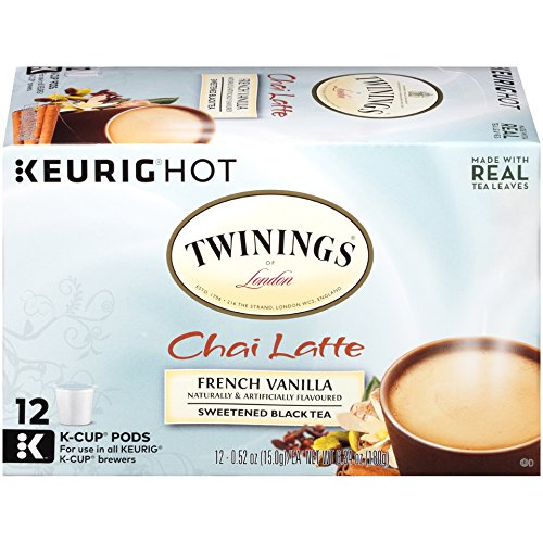 Twinings French Vanilla Chai Latte, Keurig K-Cups, 12 Count