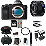Sony Alpha a7S ILCE7SB ILCE7S/B ILCE-7SB Compact Interchangeable Lens Full Frame Digital Camera + Sony SEL35F28Z Sonnar T FE 35mm F2.8 ZA Lenses + Sony 64GB SD Memory Card + Tiffen 55mm UV Filter + Wasabi Power Two Replacement NP-FW50 Batteries and Charger + Focus Deluxe Accessory Bundle