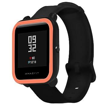 Protector Case Funda para Xiaomi Huami Amazfit Bip Smartwatch, Moda Slim Colorido Marco Caso Cubierta Proteger Shell, Protección de Silicona Suave TPU ...