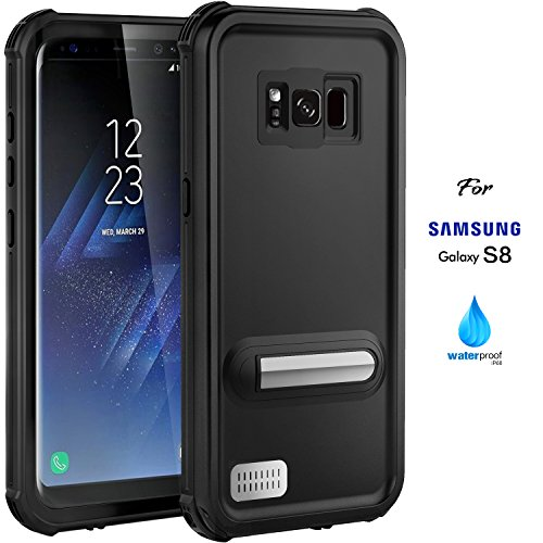 Samsung Galaxy S8 Case,ASAKUKI Full Body Case With Screen Protector,Waterproof IP68 Shockproof Snowproof Dustproof for Samsung Galaxy S8