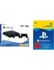 PlayStation 4 - Starter Pack: PS4 Slim Konsole (500GB) + PS Plus Online Mitgliedschaft (12 Monate)
