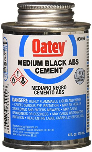Oatey Abs Cement - Oatey 30916 ABS Extra Special Cement, Black, 4-Ounce