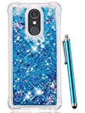 pokemon protective phone case - LG Stylo 4 Case, LG Q Stylus Case,CAIYUNL Glitter Bling Shiny Liquid Quicksand Sparkle Flowing Luxury Fashion Design Clear TPU Protective Phone Case Cute Women Men Cover Shockproof For LG Stylo 4-Blue