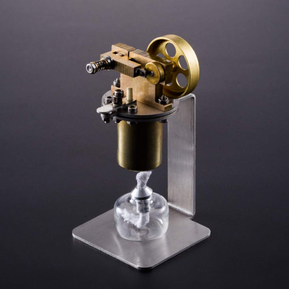 At27clekca Single Cylinder DIY Full Metal Steam Engine Motor Model Educational Toy for QX-M-ZQJ-06 by At27clekca (Image #5)