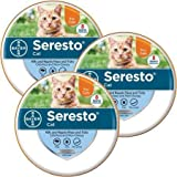 Bayer Animal Health Seresto Flea & Tick Collar for Cats - All Weights & Sizes - 8 Month Protection (3 Pack) - Gray
