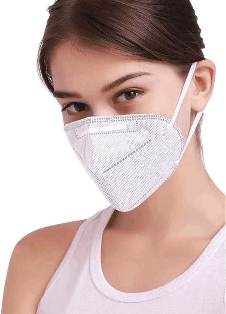 superjunior 5pz M-a-s-c-h-e-r-a FF-P2 Ipoallergeniche,Migliore Protezione in Smog Luoghi Pubblici e Uffici Misura Universale a 3 Strati