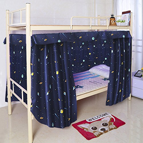 Letto A Castello Con Tenda.Cabin Bunk Bed Tent Curtain Cloth Dormitory Mid Sleeper Bed Canopy