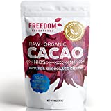 Raw Organic Cacao Nibs - Best Tasting Pure Unsweetened Dark Chocolate Cocoa - 1lb