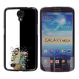 // PHONE CASE GIFT // Duro Estuche protector PC Cáscara Plástico Carcasa Funda Hard Protective Case for Samsung Galaxy Mega 6.3 / Meter Monster Carácter /