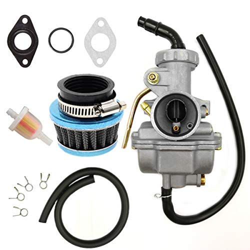 ATV Carburetor PZ20 Carb Set with Air Filter and Fuel Filter for 50cc 70cc 80cc 90cc 110cc 125cc TaoTao Honda Baja Coolster Quad Pit Bike Dirtbike Go Kart Moped Scooter (Ssr 110 Carburetor)