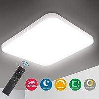Oeegoo Lámpara de Techo Regulable, LED Plafón 24W